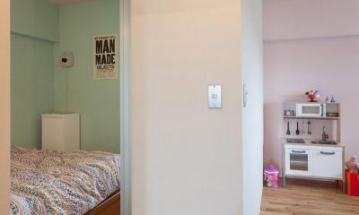 Stich —異なる素材をパッチワークのようにつなげて (寝室と子供部屋)