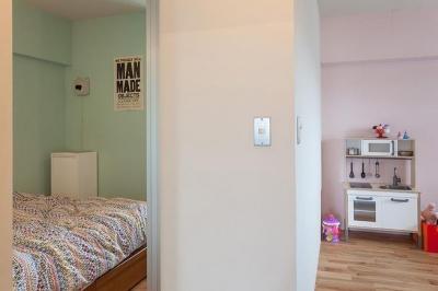 寝室と子供部屋 (Stich —異なる素材をパッチワークのようにつなげて)