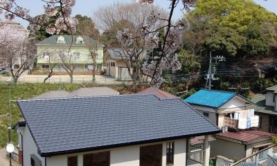 『桜並木を望む家』開放的な2階リビングの住まい