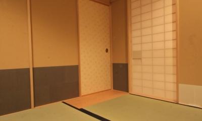 茶室リフォーム ツーバイフォーの洋室をお茶室に (茶室)