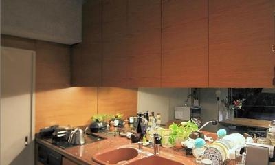 静寂の家 「プラスターが見せる大人の色気」 (キッチン)