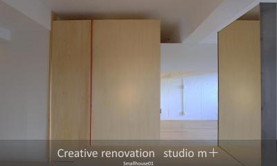 Smallhouse01 「狭小スペースと大収納」 (収納部屋)