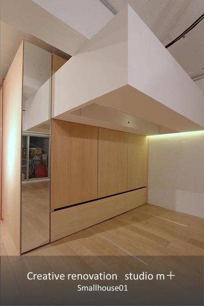 収納部屋 (Smallhouse01 「狭小スペースと大収納」)