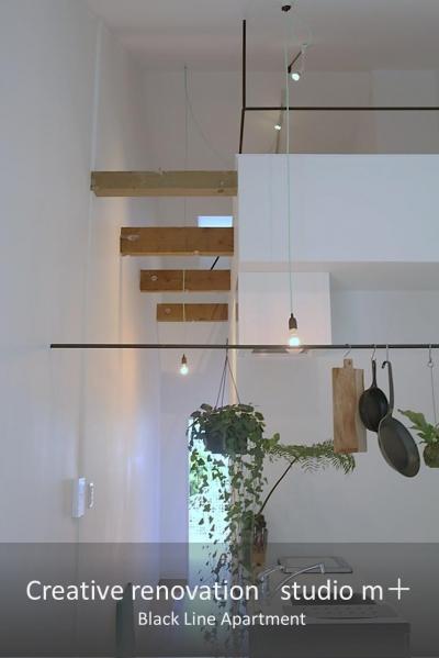 Black Line Apartment (ロフト 梁)