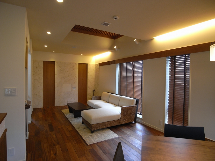 信州の住宅の部屋 リビング