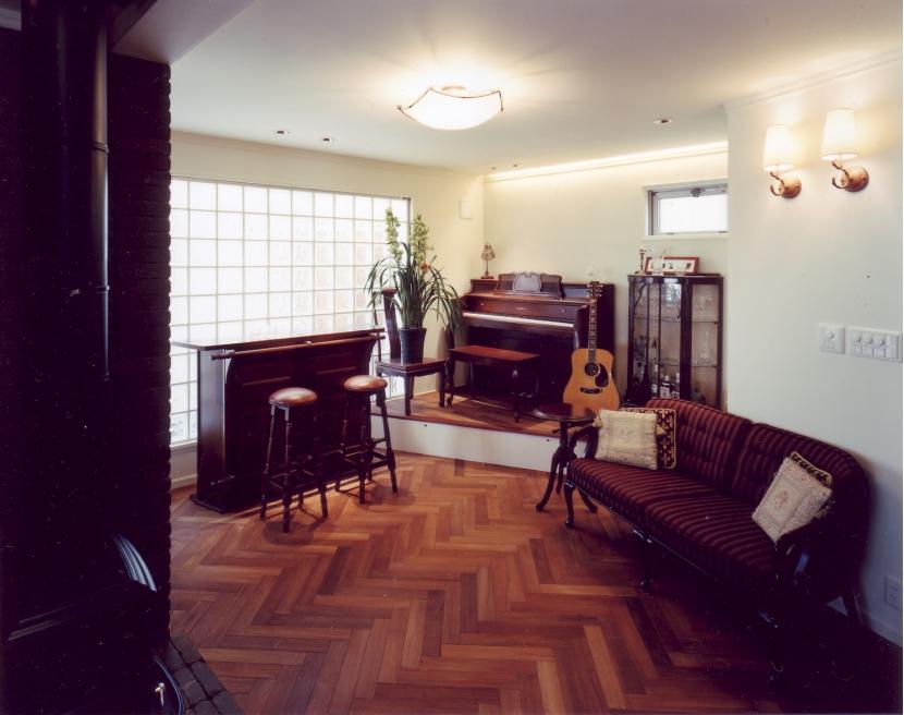 音楽家の住まいの部屋 リビング