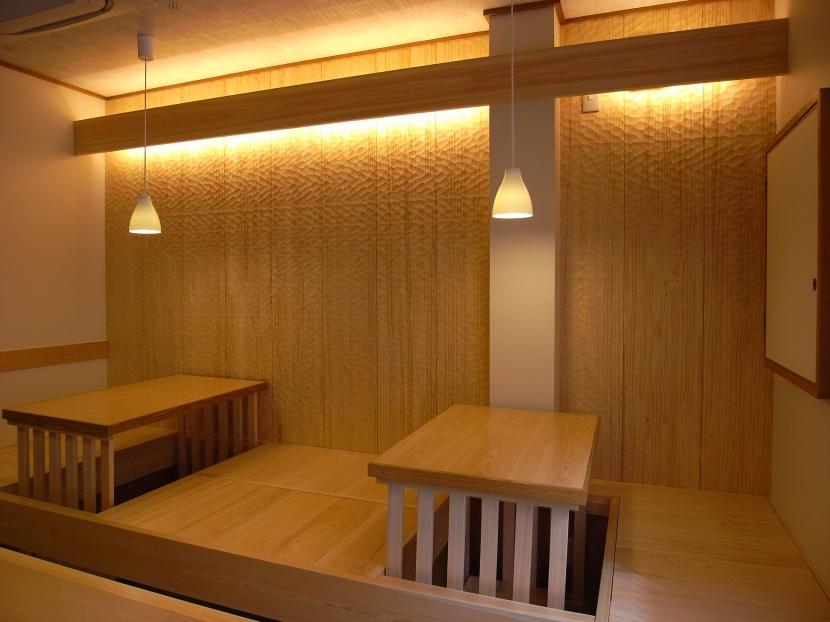 和食のお店の部屋 和の空間