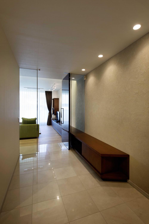 松濤のリフォーム (玄関)