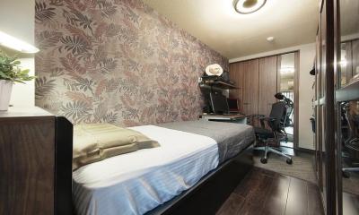 住空間にサロンをもつという選択 (アジアンリゾートな雰囲気の寝室)