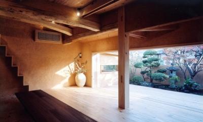 中庭のある自宅兼そば屋|木造リノベーション