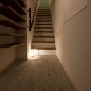 玄関から階段を上がると住居スペースに