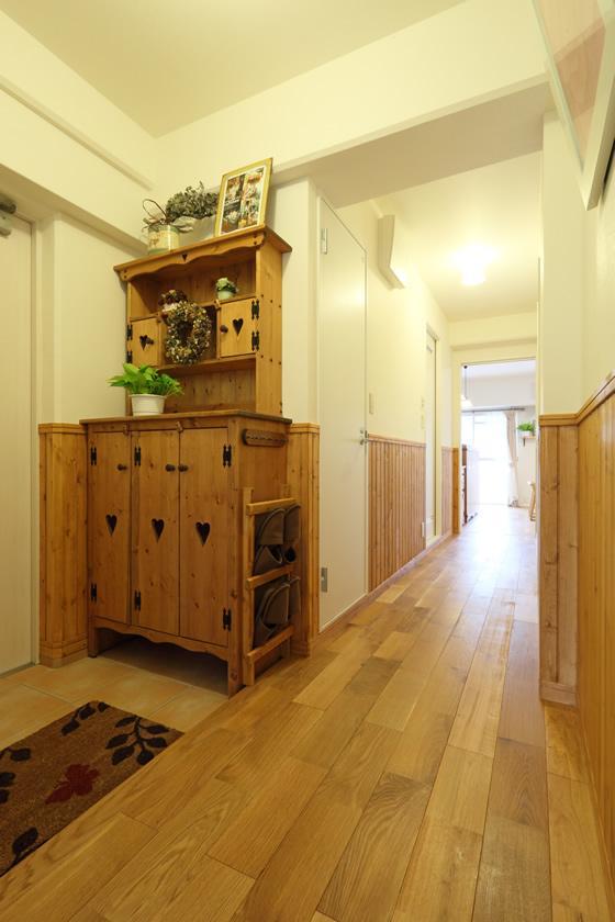 寝屋川市 M様邸|マンションリノベーション工事の部屋 自然のぬくもりを感じる玄関
