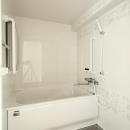 寝屋川市 O様邸|マンション全面リノベーション工事の写真 ゆとりあるバスルーム