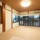 枚方市 T様邸蔵と母屋のリノベーション工事の写真 壁は珪藻土でスッキリ仕上げた和室