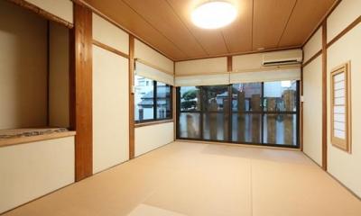 壁は珪藻土でスッキリ仕上げた和室|枚方市 T様邸蔵と母屋のリノベーション工事