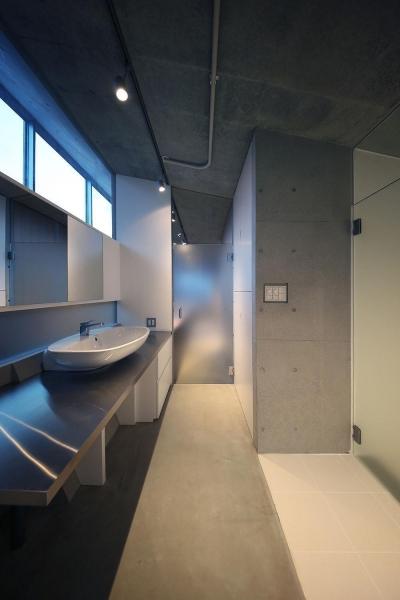 化粧室 (TKR[片持ちスラブの家])