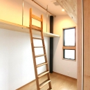 K・プラン・サ-ビスの注文住宅の家の写真 主寝室の奥に約4.2帖のウォークインクローゼット