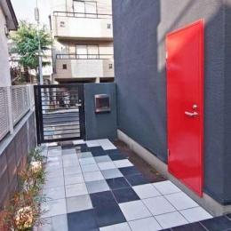 シンプルモダンの家 (こだわりの玄関ポーチ)