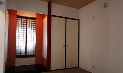 落ち着き和室|「Kurenai色のある家」