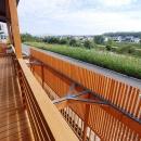 「連格子のある家」の写真 大きな川が見えるバルコニー