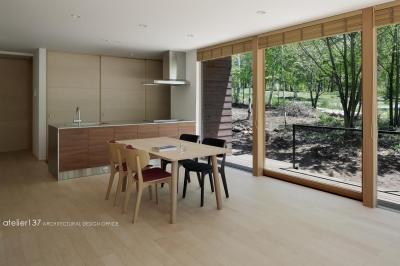 キッチン (043八ヶ岳原村Tさんの家)