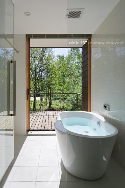 浴室 (043八ヶ岳原村Tさんの家)