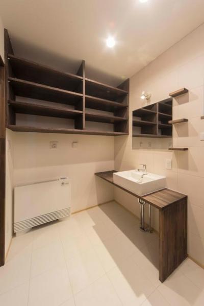 朽ちる家 (収納棚のある洗面室)