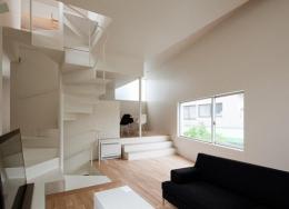 東綾瀬の家 (螺旋階段を中心とした空間)