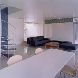 石岡の家 (螺旋階段のあるリビング)