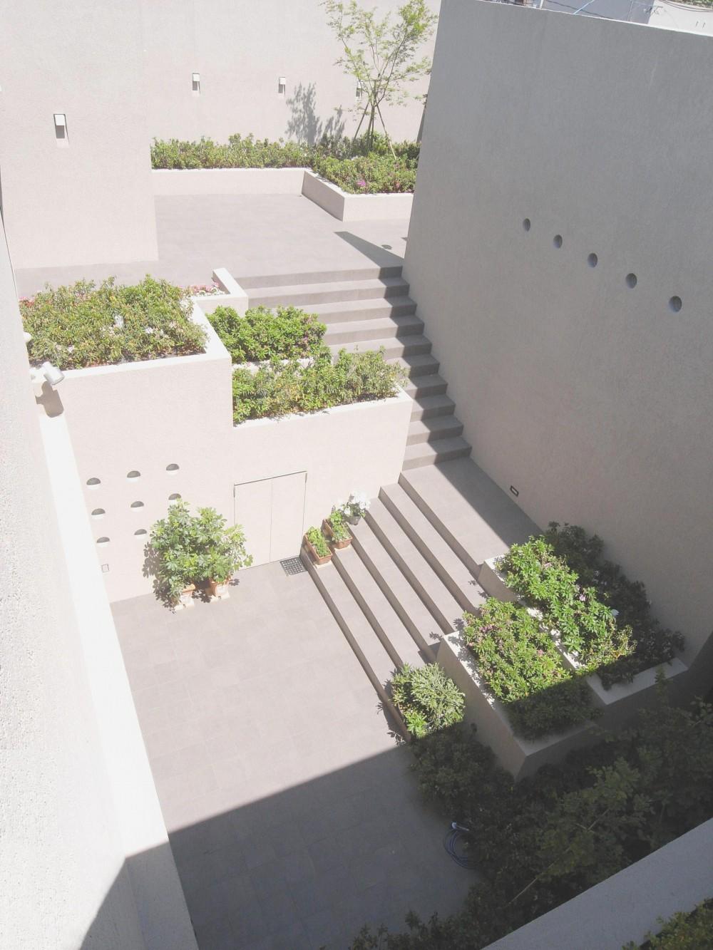 名古屋のコートハウス (中庭)
