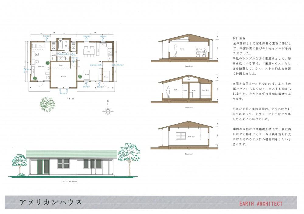1500万円で「人生を楽しむ家」のアイデア集 (米軍ハウス風の平屋の住宅です。)