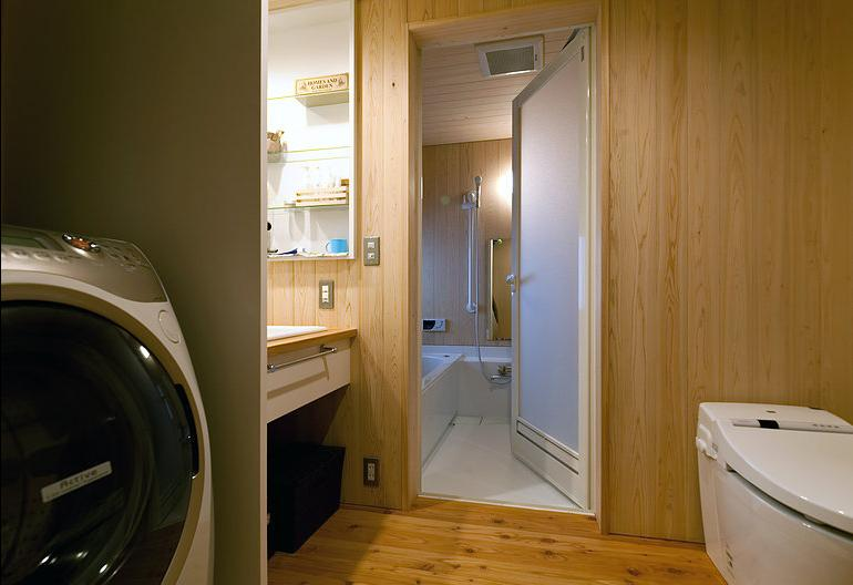 バス/トイレ事例:洗面脱衣所(倭の家)