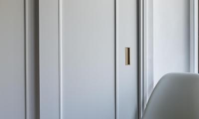インディゴブルーのポイントクロス (収納の扉)