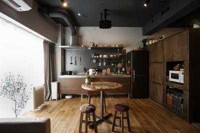 キッチン (一人仕様を極めたワンルーム)