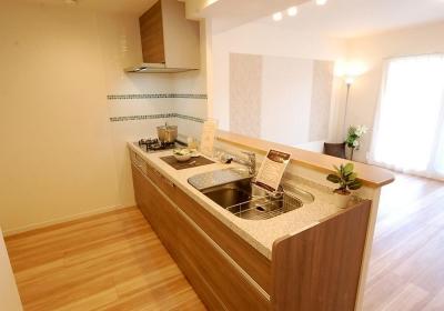 キッチン (明るい陽射しの入るキッチン)
