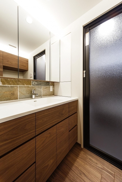 洗面室 (rehaus-an/上質な大人の空間へのマンションリフォーム)