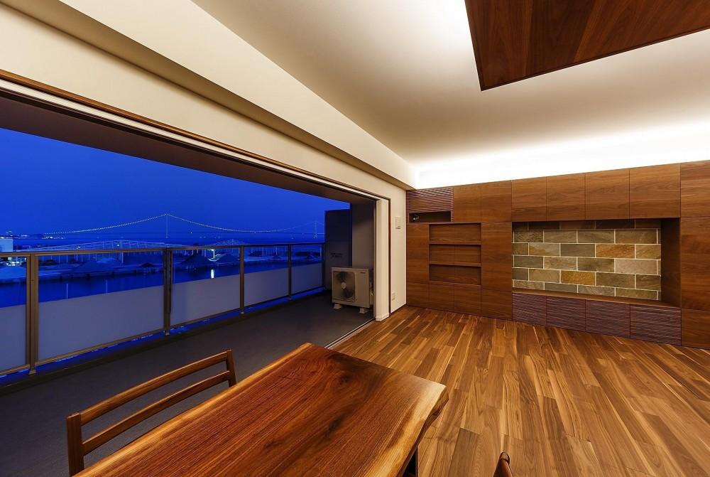 rehaus-an/上質な大人の空間へのマンションリフォーム (リビング&バルコニー)