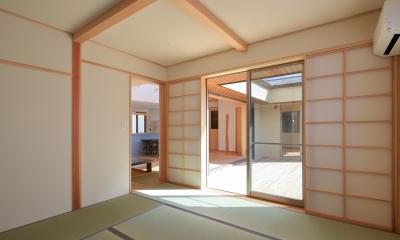 南鷹尾町の家~陽だまりの家~ (寝室)