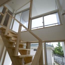 朝日の家Ⅵ (木を感じるオープン型階段)