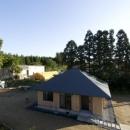方形の庵の写真 個性的な平屋