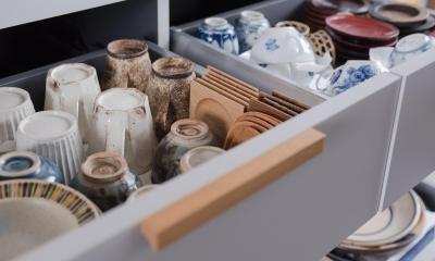 キッチンの引き出し収納|ギャラリーのようなAさんの家