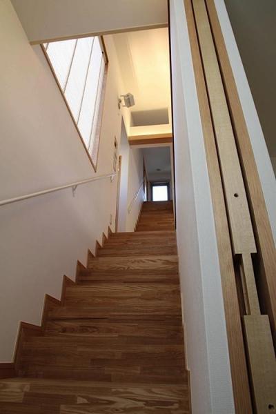 世田谷の家 (ロフトまで続く一直線の階段2)