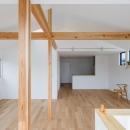 木立を望む家