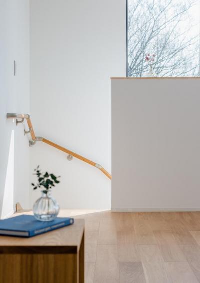 木立を望む家 (LDK-4(階段))