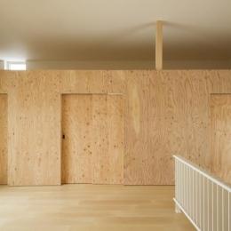 CYIN-ロフト下は引き戸を閉じると個室空間に