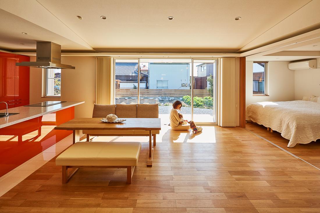 回光の家の部屋 開放的な空間