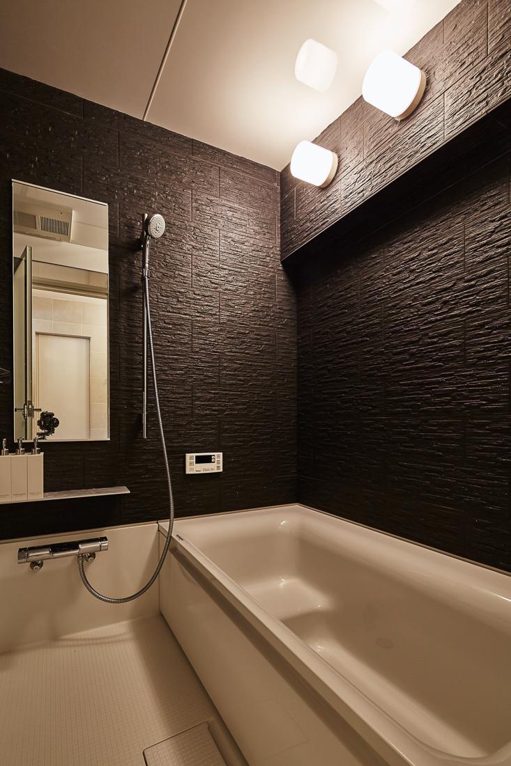繭の部屋 モダンなバスルーム