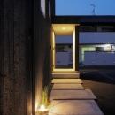土岐の住宅の写真 玄関アプローチ