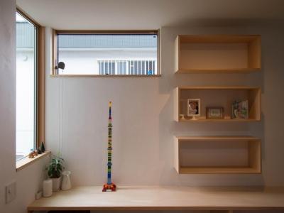 書斎コーナー (三層回遊の家)