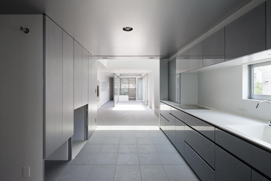 キッチン事例:開放的なキッチン(御器所の住宅)